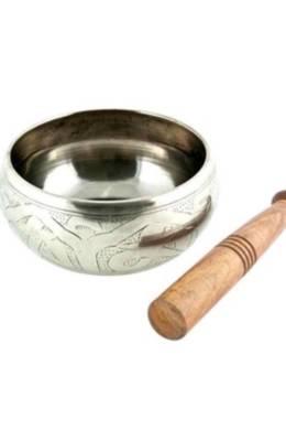 Silver Buddha Tibetan Singing Bowl