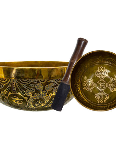 Double Dorje Hand Hammered Singing Bowl