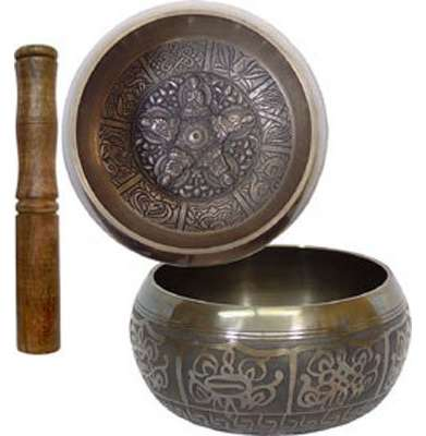 Embossed Singing Bowl Medium 5 Dhyani Buddhas