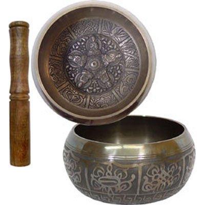 Embossed Singing Bowl Medium 5 Dhyani Buddhas
