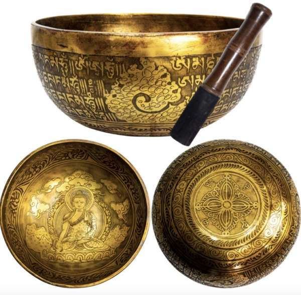 Engraved Buddha Bodhi Design Handcrafted Singing Bowl