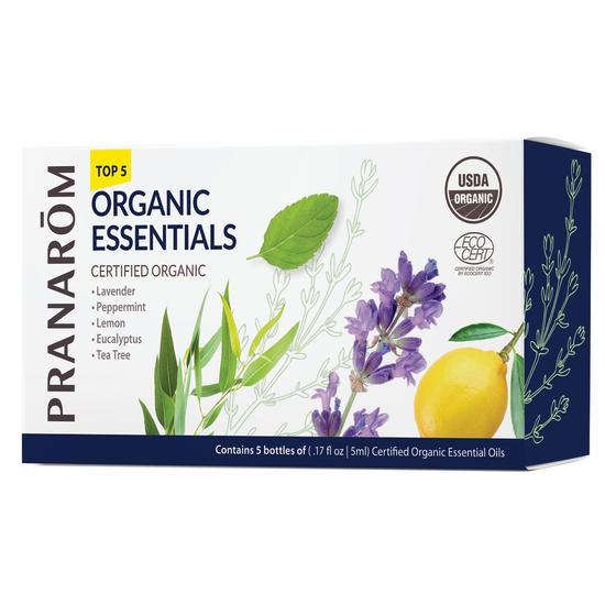 Pranarom Top 5 Organic Essentials