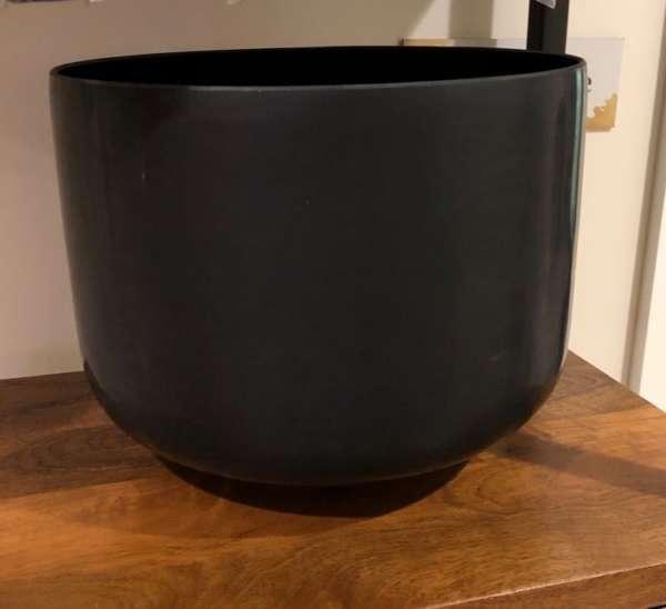"Black Tourmaline Gem Alchemy Root Chakra 12"" Crystal Singing Bowl – Note C"