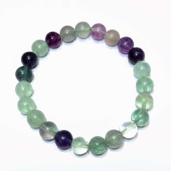 Rainbow Fluorite Gem Bracelet