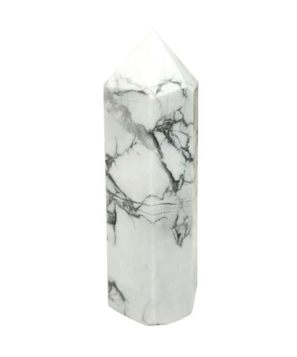 Howlite Crystal Tower