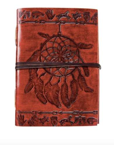 Dreamcatcher Leather Journal with Strap