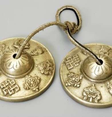 Tibetan Tingshas - Eight Auspicious Symbols