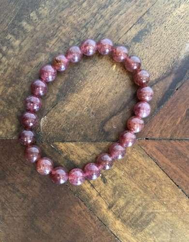 Strawberry Quartz Gem Bracelet