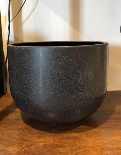 Black Tourmaline Gem Fusion Crystal Singing Bowl